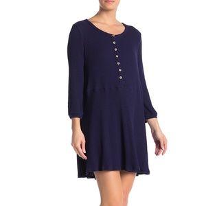 Blu Pepper Women's Long Sleeve Babydoll Dress